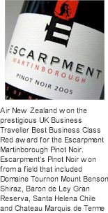 More About Escarpment Wines