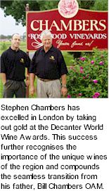 More on the Chambers Rosewood Winery