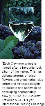 More on the Claymore Winery