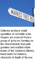 About Collector Canberra Wines
