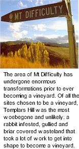 About the Mt Difficulty Winery
