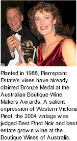 About Mount Pierrepoint Wines