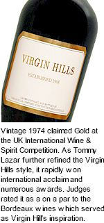 More About Virgin Hills Winery
