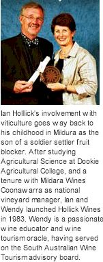More About Hollick Wines