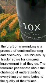 More About Ten Minutes By Tractor Wines